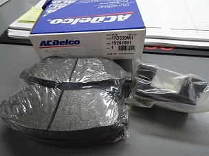 ACDELCO SEMI-METALLIC FRONT DISC BRAKE PAD SET, NOS, #19261661, 18037633, 17D699MH $70 + SHIPPING