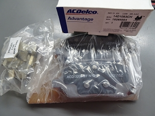 ACDELCO ADVANTAGE CERAMIC REAR DISC BRAKE PAD SET, NOS, #19285994, 14D1093CH $45 + SHIPPING