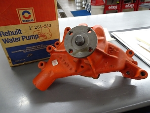 Delco Rebuilt Water Pump cast #6263707 Delco #261-243 $150.00